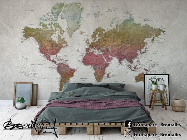 Karta sveta foto tapet