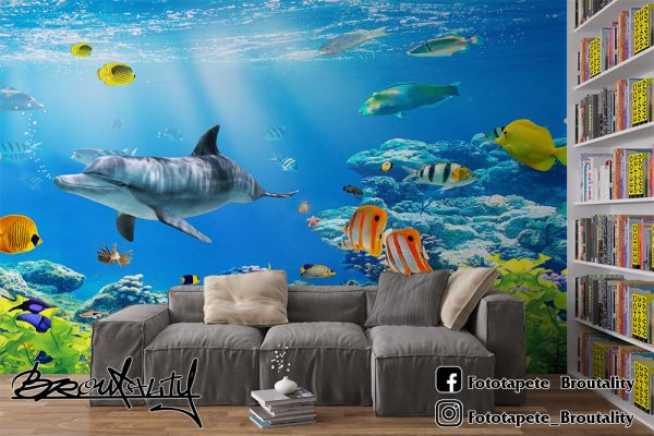 Delfini foto tapet za decu
